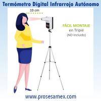 TermometroDigitalInfrarrojoAutonomoTripie