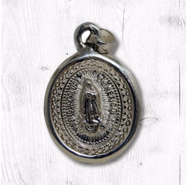 Medalla virgen plata